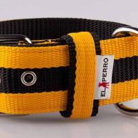 5 cm széles JUICY STRIPS nyakörv - sárga